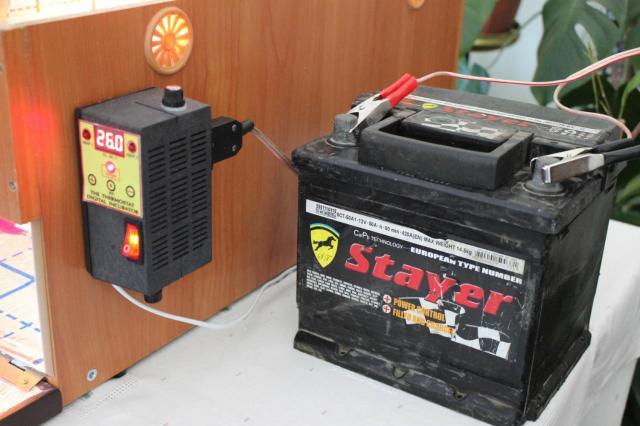 Резервное питание инкубатора 126