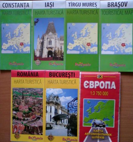 Карта Европы и Украины. Карта