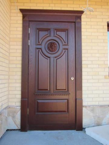 входные двери в дом из дерева цена